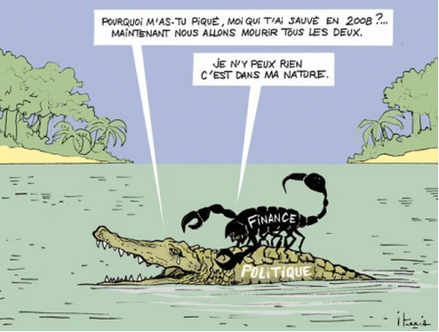 scorpion-crocodile-grenouille-finance-politique-crise