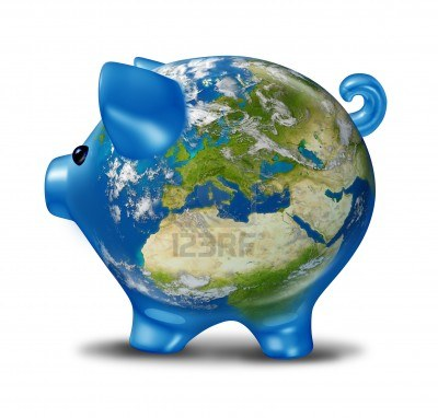 2612_12082764-european-banking-and-bad-economy-crisis-as-a-a-planet-earth-with-a-piggy-bank-and-world-globe-map-of