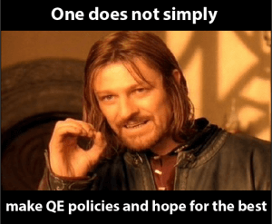 "Le ""meme"" de Boromir appliqué au QE : One does not simply walk into Mordor"