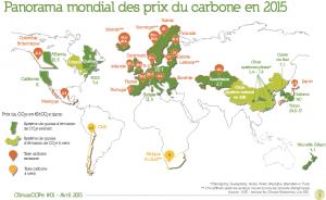 Panorama mondial des prix du carbone en 2015