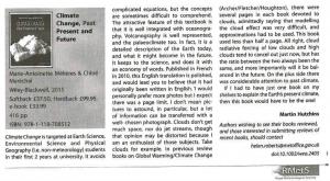 Critique par MetOffice du livre Climats : passé, présent, futur
