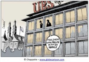"""Illustration satyrique """"impunité des banques"""""""