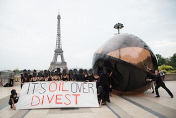 Bulle Carbone pour la COP21 - Source : 350.org