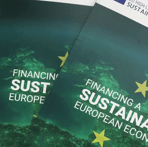 Couverture du Rapport du High Level Expert Group on Sustainable Finance