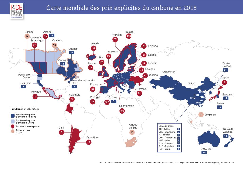 Source: Les comptes mondiaux du carbone I4CE, 2018